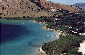 Lake Kournas Photo from a hillside